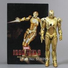 جديد وصول سوبر بطل الرجل الحديدي مارك xxi golden armor عمل الشكل رجاء شحن مجاني HRFG291 الحديدي