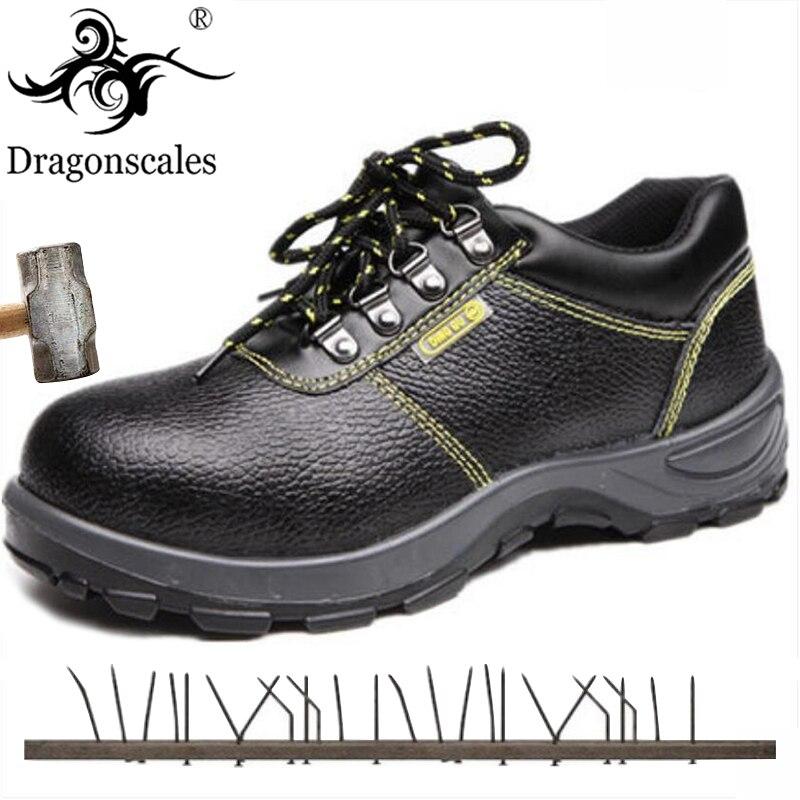 2019 nuevos zapatos de seguridad de alta calidad para el trabajo, zapatos de seguridad antiperforantes negros con suela de acero y puntera antiestática