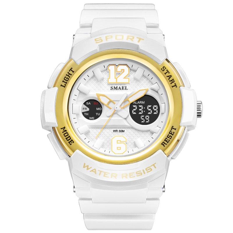 SMAEL Fashion Quartz Watch for Women Casual white Digital Sport Watches Girl Gift Clock Waterproof Wristwatch Female Reloj enlarge