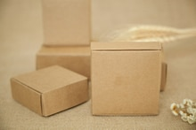 500 pçs 4*4*2cm aeronaves marrom presente embalagem caixa de papel kraft para jóias  casamento  doces  artesanato  bolo  caixas de embalagem de sabão artesanal