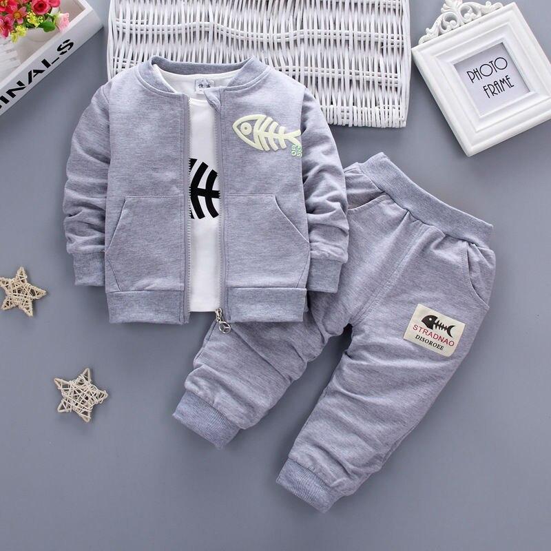 ¡Nuevo estilo 2020! Ropa para bebés, niños, niñas, rojo, azul marino, gris, Minion, abrigo + Camiseta + Pantalones, 3 uds., conjuntos de ropa para niños y niñas.