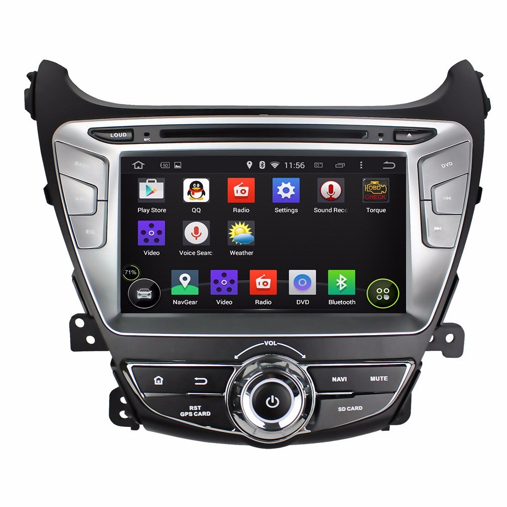 """8 """"en-dash reproductor DVD Android para el coche con BT GPS 3G WIFI coche PC/multimedia Unidad de Audio/Radio/estéreo para Hyundai Elantra 2014"""