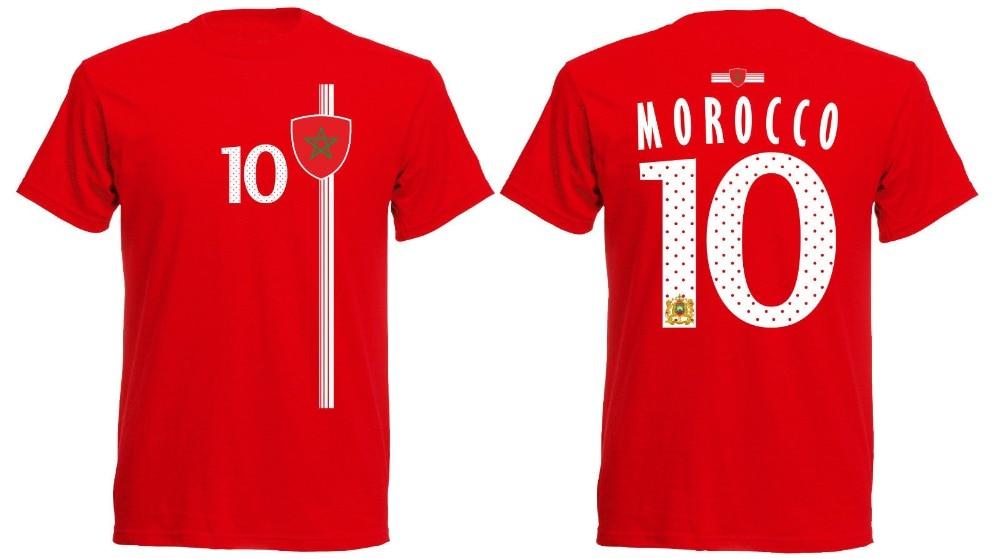 Jersey Trikot marroquí Nummer 10 2020, nueva ropa de manga corta para hombre, Tops Marokko, camiseta Rot St-1 2020, camisetas