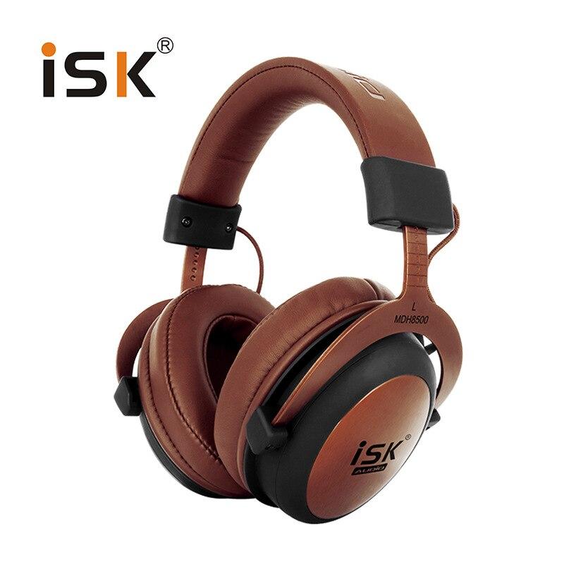 Genuíno isk mdh8500 fone de ouvido de alta fidelidade estéreo totalmente fechado dinâmico profissional estúdio monitor fones alta fidelidade dj fone