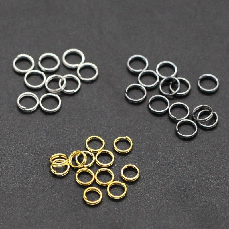 Anillo de hierro de doble bucle 100 Uds., llavero de joyería de lazo para la fabricación de joyas, collares, pulseras, llavero DIY accesorios de joyería