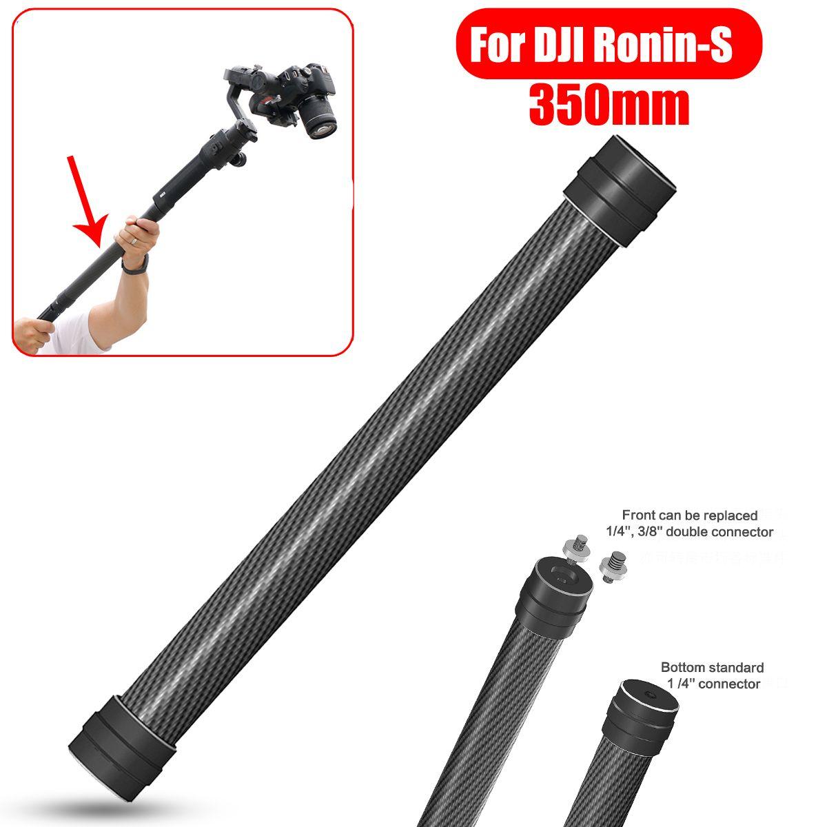 Palo de extensión de fibra de carbono profesional 1/4 3/8 varilla estabilizadora de rosca monopié para DJI Ronin S accesorio de cardán de mano
