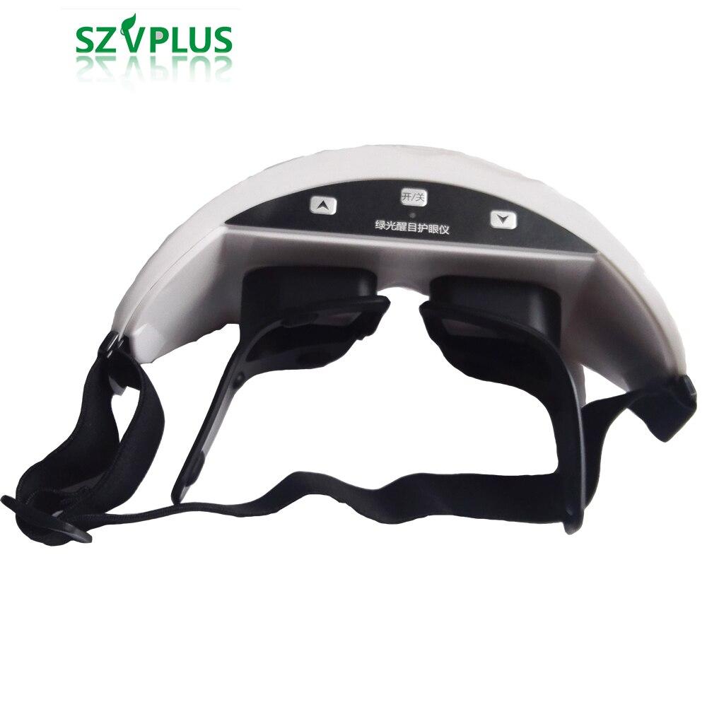 Instrumento de ojo de luz verde 3D para niños, tratamiento para miopía, masajeador de ojos, recargable, inalámbrico, restauración de gafas de visión