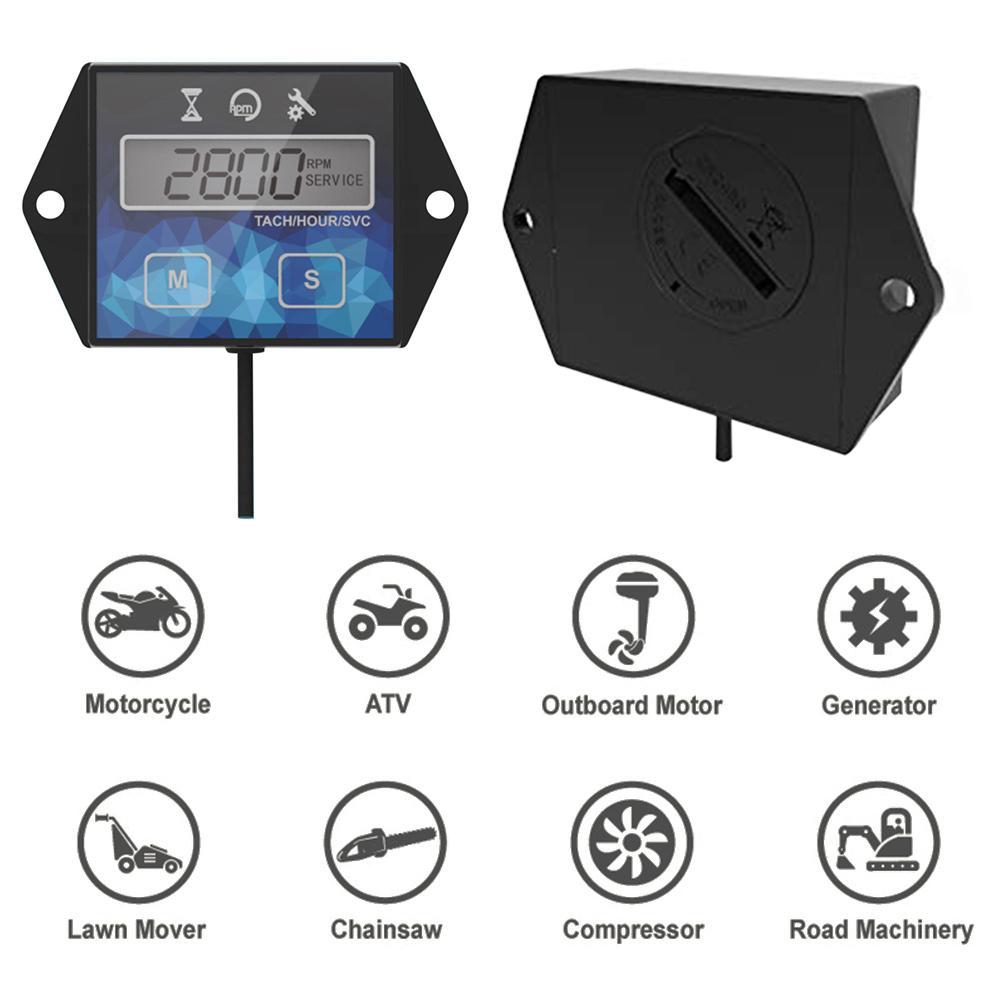Nuevo tacómetro de motocicleta Digital temporizador LCD pantalla hora medidor velocidad ATV velocidad reinicio temporizadores