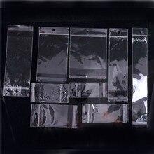 9 arten größe OPP Transparente kunststoff beutel Verpackung Poly Selbst Kleber schmuck taschen 100 stücke großhandel