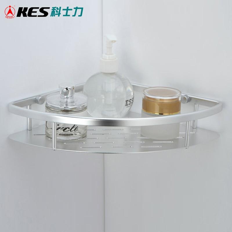 KES A4022A bañera y ducha gran cesta de esquina montaje de pared, Aluminio
