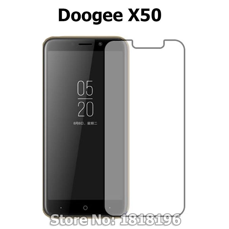 Películas ultrafinas del LCD del teléfono móvil del Frente 9H para Doogee X50 protector de pantalla de vidrio templado para Doogee X50 película de cubierta de vidrio