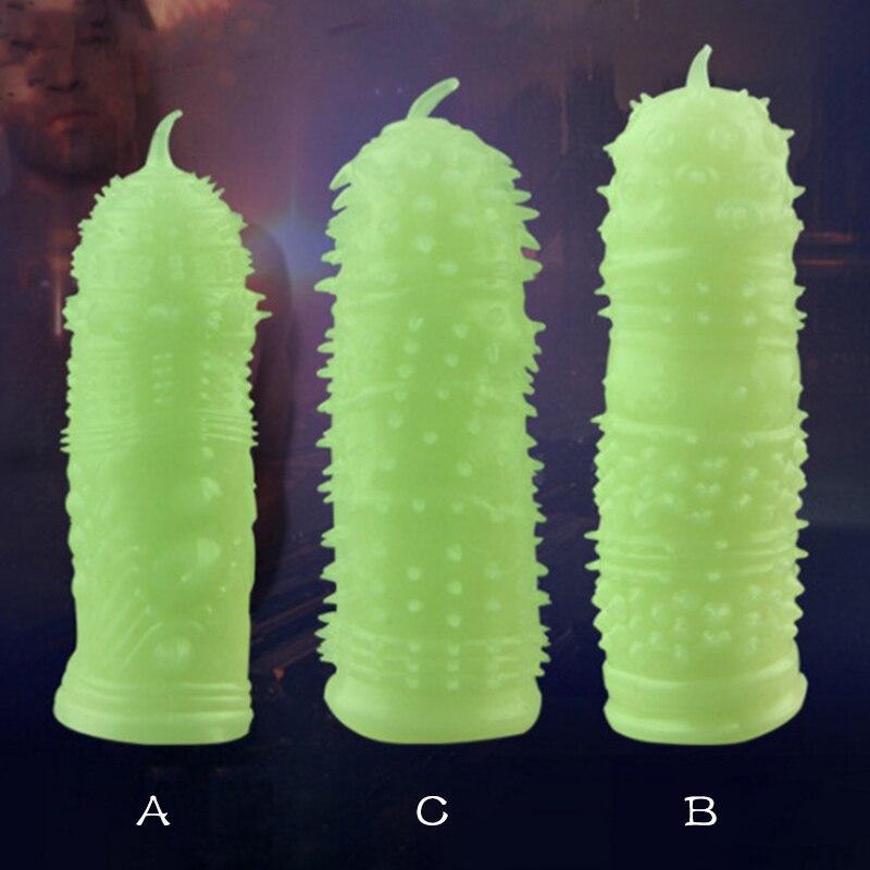 Los condones de fluorescencia especial condones médico de sexo juguetes Sexy condón producto adulto para hombre sexo juguetes de pene