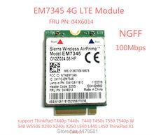 Carte EM7345 4G pour T440 T540P W540 L440 X240 X1 carbone 4G Module EM7345 NGFF M.2 WWAN carte 04X6014 4G LTE/HSPA + 42mbps carte