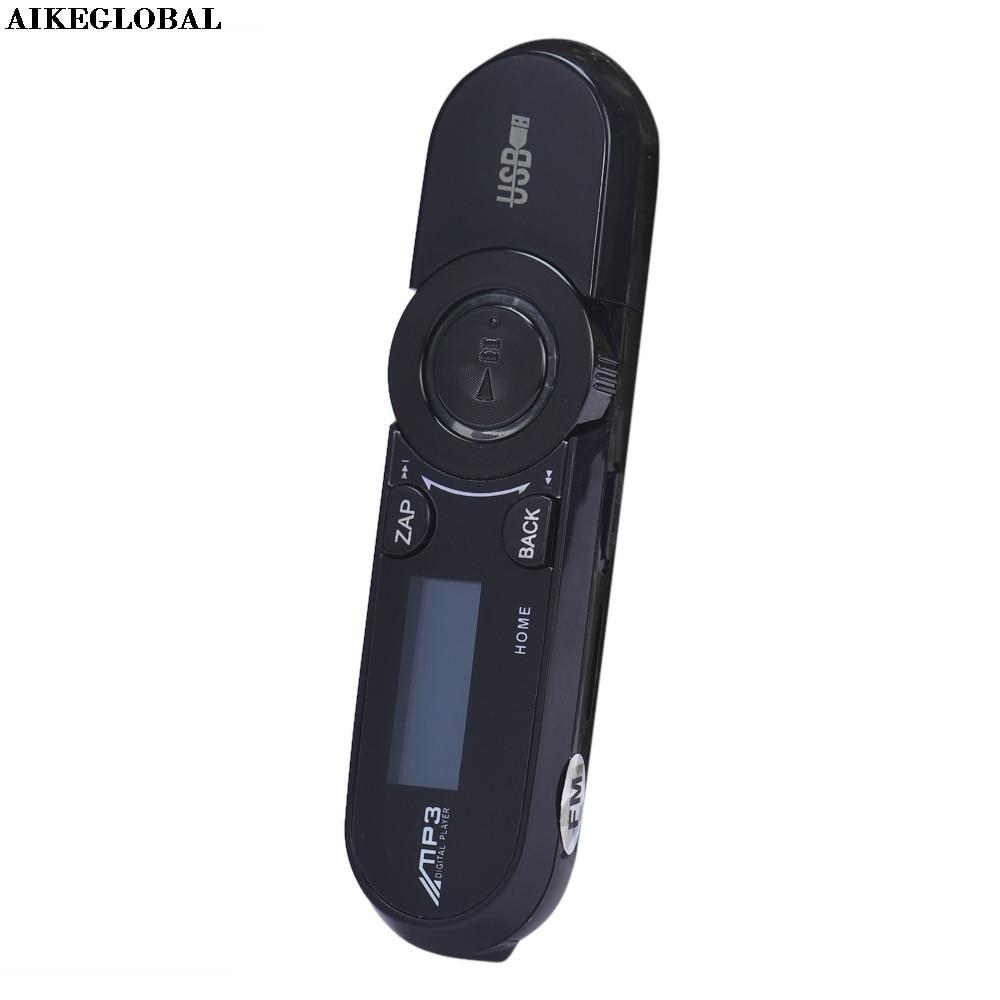 Transmissor aikeglobal usb lcd, 16gb suporte flash tf player mp3 música rádio fm carro transmissor fm memórias não são incluídas