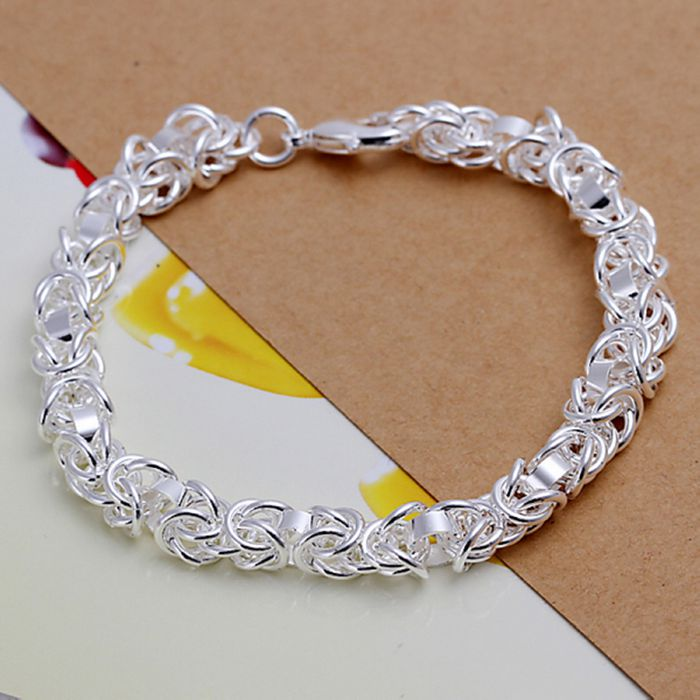2016 New 925 jewelry silver plated Fashion Jewelry Leading shrimp buckle bracelets&bangle,Wholesale jewelry SMTH073