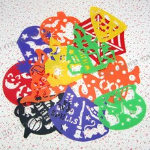 12 dessins pochoirs enfants dessin modèles en plastique Halloween peinture planches bricolage bébé enfants jouets éducatifs chauds 122-175mm
