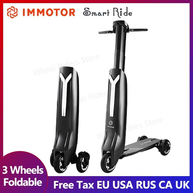 IMMOTOR GO Smart plegable tres ruedas scooter eléctrico. Micro-vehículo eléctrico portátil de adultos de la luz ultra-designatedl