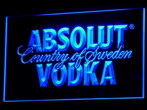 A025 absolut vodka país da suécia cerveja led sinal de barra de néon