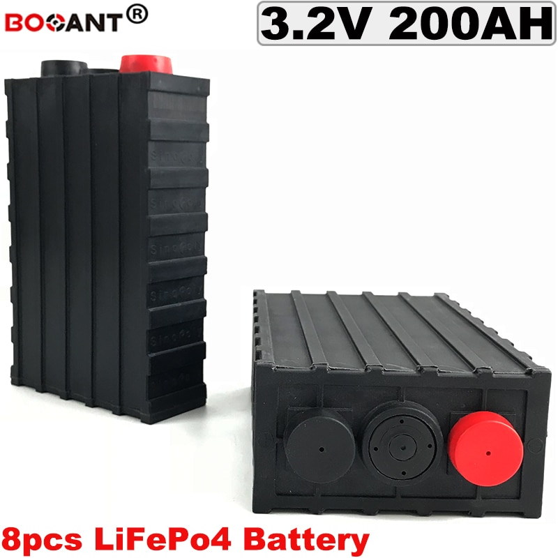 Batería de litio de ciclo profundo 3,2 v LiFePo4 de 8 Uds. 24V 200Ah batería de bicicleta eléctrica 24V para EV/almacenamiento de energía/energía del sistema Solar/UPS