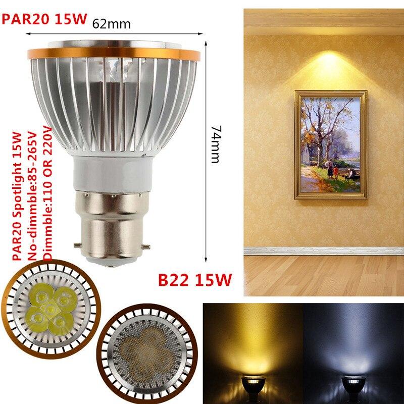 1PCS New LED PAR20 Bulbs B22 Dimmable par20 LED Spot Bulb Lamp Light Warm White/Cool White/Pure White  Spotlight Down LIGHTING