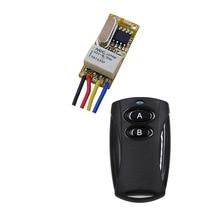 Interrupteur de Mini relais cc 3.7V 4.5V 5V 6V 7.4V 9V 12V NO COM NC   Interrupteur sans fil sans fil, marche OFF, Normall fermé, ouvre 315mhz
