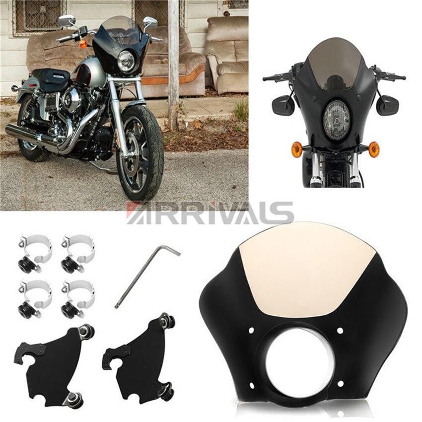 Motocicleta 41mm 49mm frontal guantelete faro carenado W/Trigger Lock Kit de montaje para Harley Sportster XL 883 1200