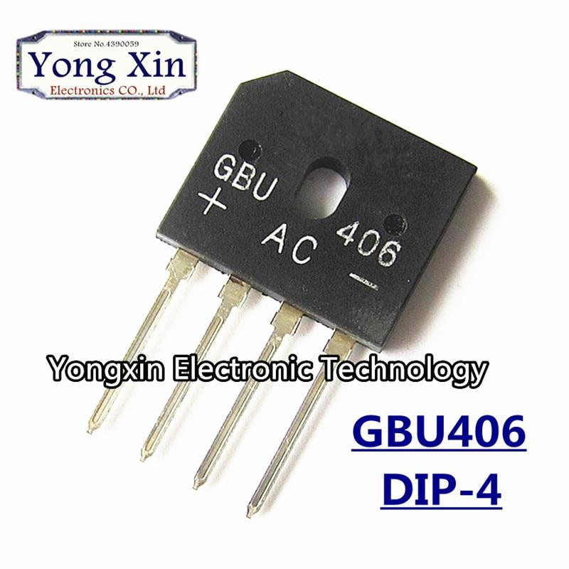 10 piezas GBU406 600 V 4A