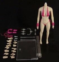 Livraison gratuite noblesse KURHN DIY corps articulé BJD 1/6 avec bikini pour les filles grand buste joint, accessoires en plastique comprennent ensemble de main