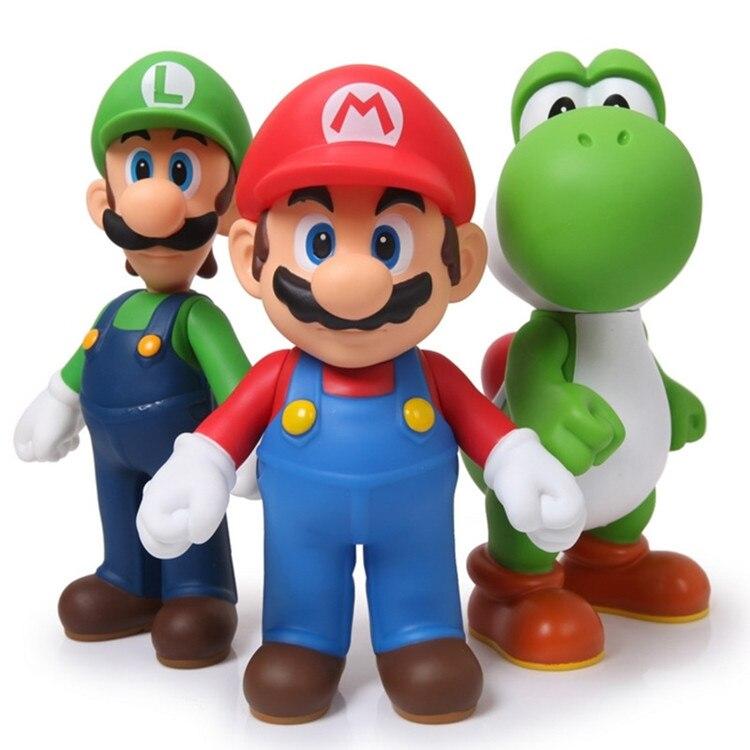 3 teile/satz Bros Mario Yoshi Luigi PVC Super Mario Action Figure Sammeln Modell Spielzeug 11-12 cm KT2652