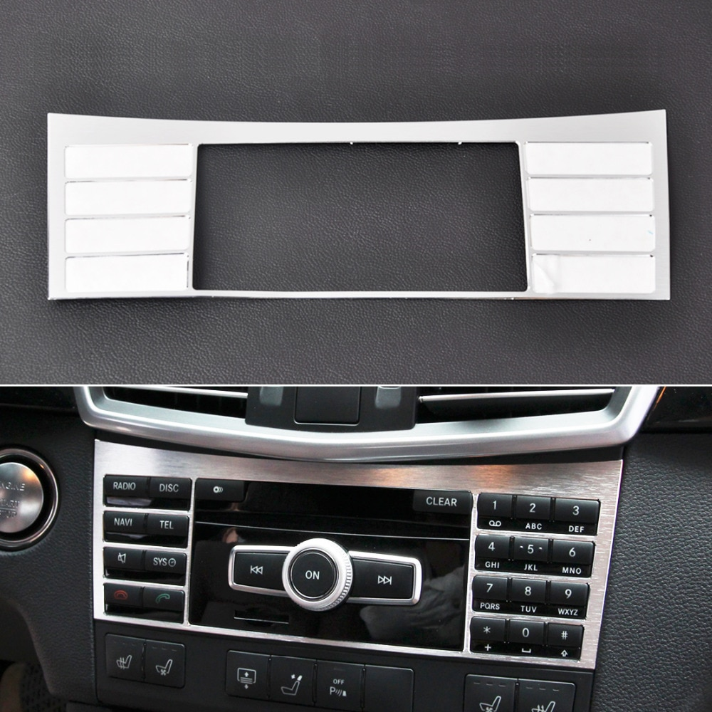 CITALL New Sliver Alu Interior Center Console Button Panel Switch Panel decorative Cover Trim For Mercedes Benz W212 E Class