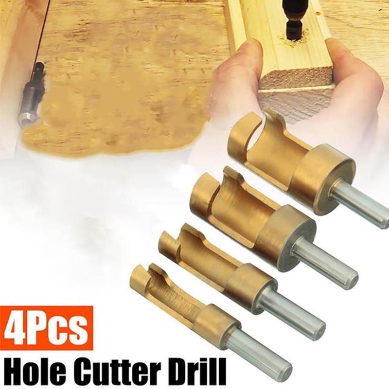 4 unids/set forstner madera broca autocentrante agujero vi herramientas para trabajar la madera 6/8/13/16mm brocas forstner