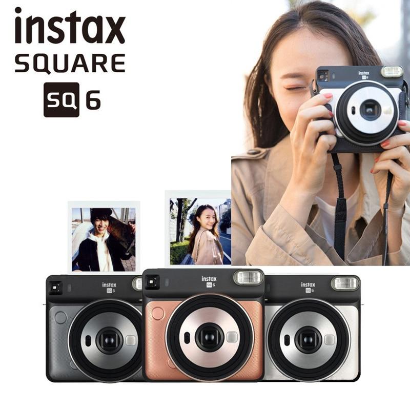 Fujifilm Instax Square 6 Mini Cámara de película instantánea flash tricolor para cámara de fotos instantáneas Polaroid cámara fotográfica instantánea
