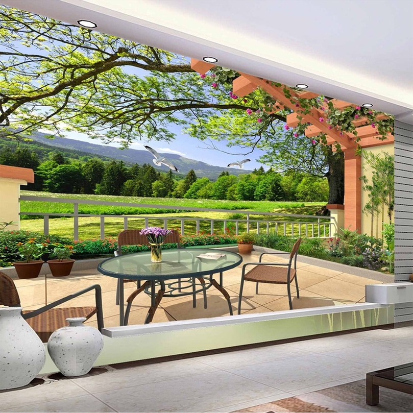 Обои нового дизайна 3D для сада, рулон настенных бумаг, домашний декор, обои для спальни, гостиной