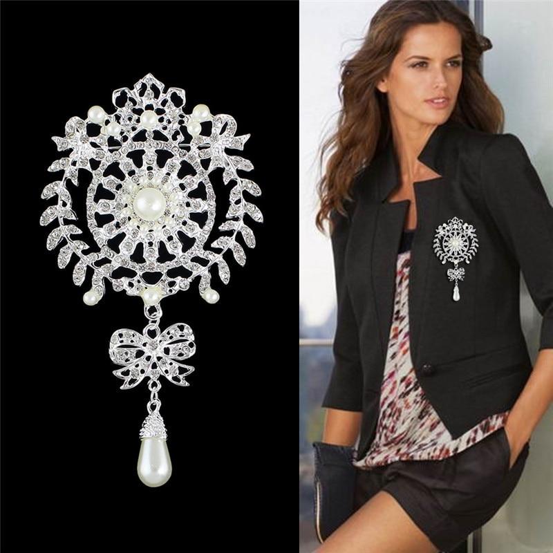 Nuevo diseño, buena calidad, moda, broche con lazo de perla