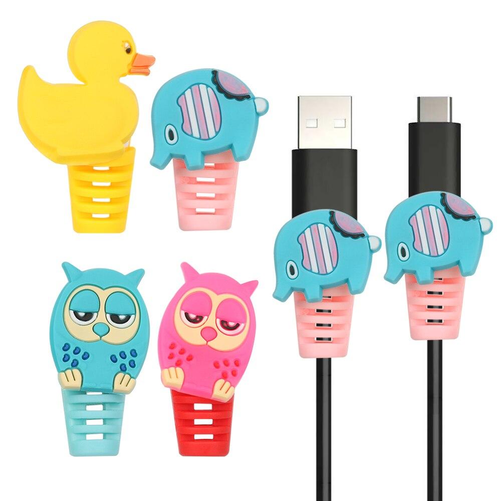 Protector de Cable de 2 uds, bobinadora de Cable, Cable de protección de cuerda para iPhone, Android, USB, cubierta de auricular, Dropship