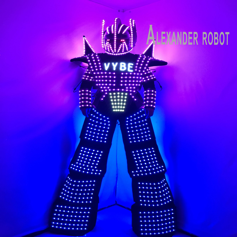 LED Robot Costume /LED Clothing/Light suits/ LED Robot suits/ ALEXANDER  robot