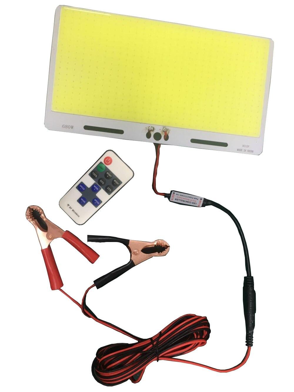 Новинка DC12V 100 Вт 480 светодиодных чипов большой размер cob светодиодные лампы с RF контроллером для DIY кемпинга лампа автомобильный светильник ...