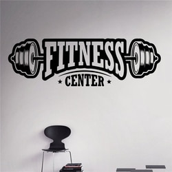 Бесплатная доставка, настенные наклейки для фитнеса-центра, виниловые наклейки для занятий спортом, здорового образа жизни, домашний декор, настенные художественные фрески, настенные наклейки C06