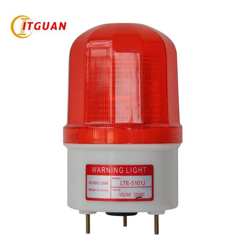 AC110V 220V LTE-5101J الصناعية تحذير ضوء إنذار أضواء LED وامض إشارة الترباس أسفل مع صوت الجرس DC12V 24V
