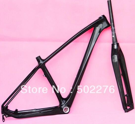 """FR-217 de carbono completo UD brillante MTB 29 """"Rueda bicicleta de montaña 29ER BB30 marco y horquilla-17"""", 19 """"(regalo auriculares)"""