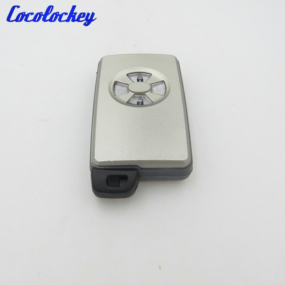 Cocolockey nuevo botón 2 funda de mando a distancia inteligente Shell para TOYOTA RAV4 Vitz Ractis No Logo