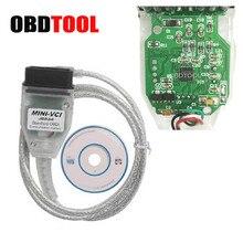 Интерфейс Mini VCI J2534, интерфейс MINI VCI V14.20.019 диагностический кабель USB для Toyota TIS Techstream V15.00.028 OBD2 16 контактный сканер