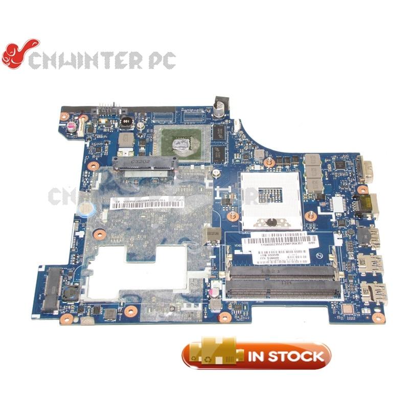 NOKOTION QIWG6 LA-7988P Main board For Lenovo G580 Laptop Motherboard 90002355 HM76 DDR3 GT710M Video Card