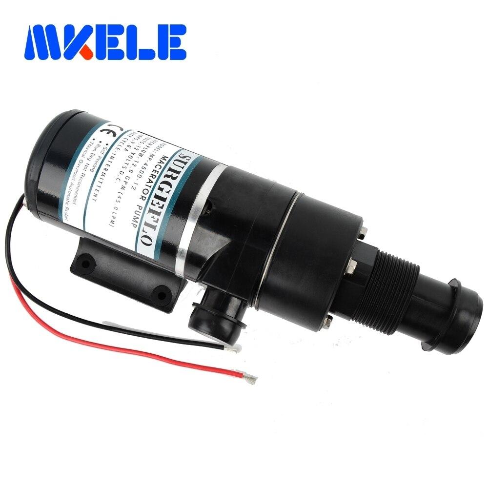 MP-4500-12 12v dc ماسيراتور الصرف الصحي مضخة 45L/دقيقة الطرد المركزي المياه مضخة بيلج مضخة الصرف الصحي