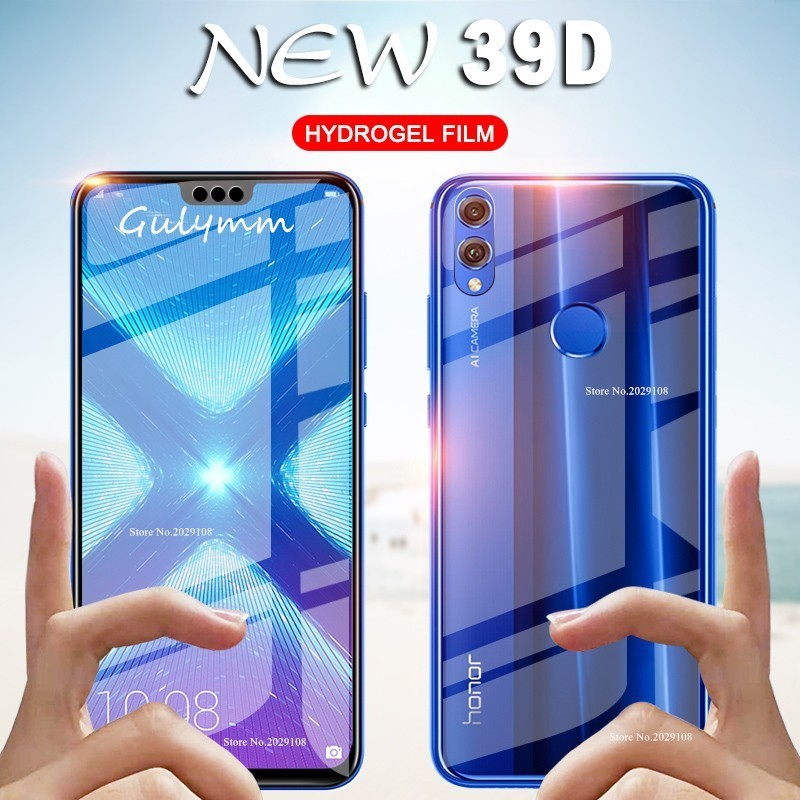 39D Передняя и задняя Гидрогелевая пленка для Huawei P20 P30 Lite Pro P Smart 2019 Защитная пленка для экрана Honor 8X 10 Lite ультратонкая пленка
