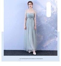 Mariage grande taille robe de demoiselle dhonneur longue Net fil soeurs robe de pansement de mariage Simple robe Sexy robes de bal