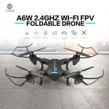 Drone WIFI FPV avec caméra grand Angle HD Mode de maintien élevé bras pliable RC quadrirotor RTF RC hélicoptère jouets