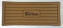 "Marine Boat Yacht Fishing Boat EVA Brown Teak Helm Station Teak Pad with SeaTeak Logo 406mm x 991mm x 13mm 16"" x 39"" x 1/2"""