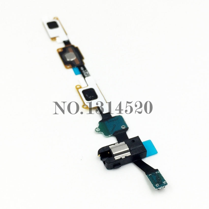 Para Samsung Galaxy J7 (2016) J710F Botón del hogar Flex Cable cinta con auricular Jack Replacement
