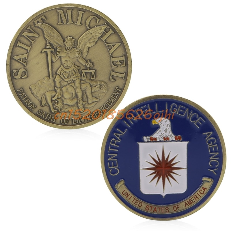 Commemorative Coin Saint Michael US Central Intelligence Agency Gift  #H030#